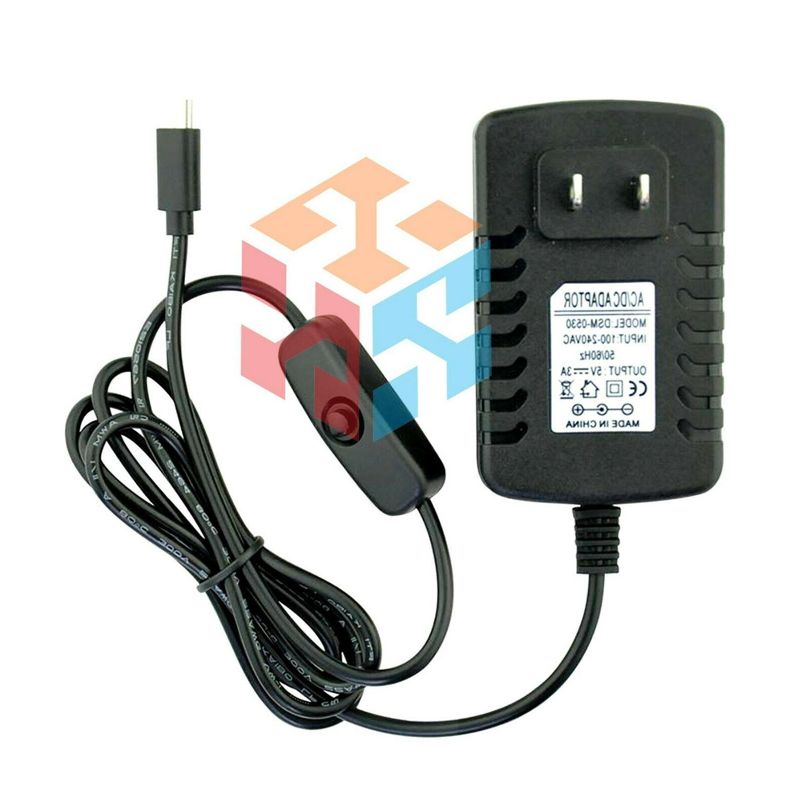 5V 3A AC Adapter Power Supply Charger for Raspberry Pi 3 3B
