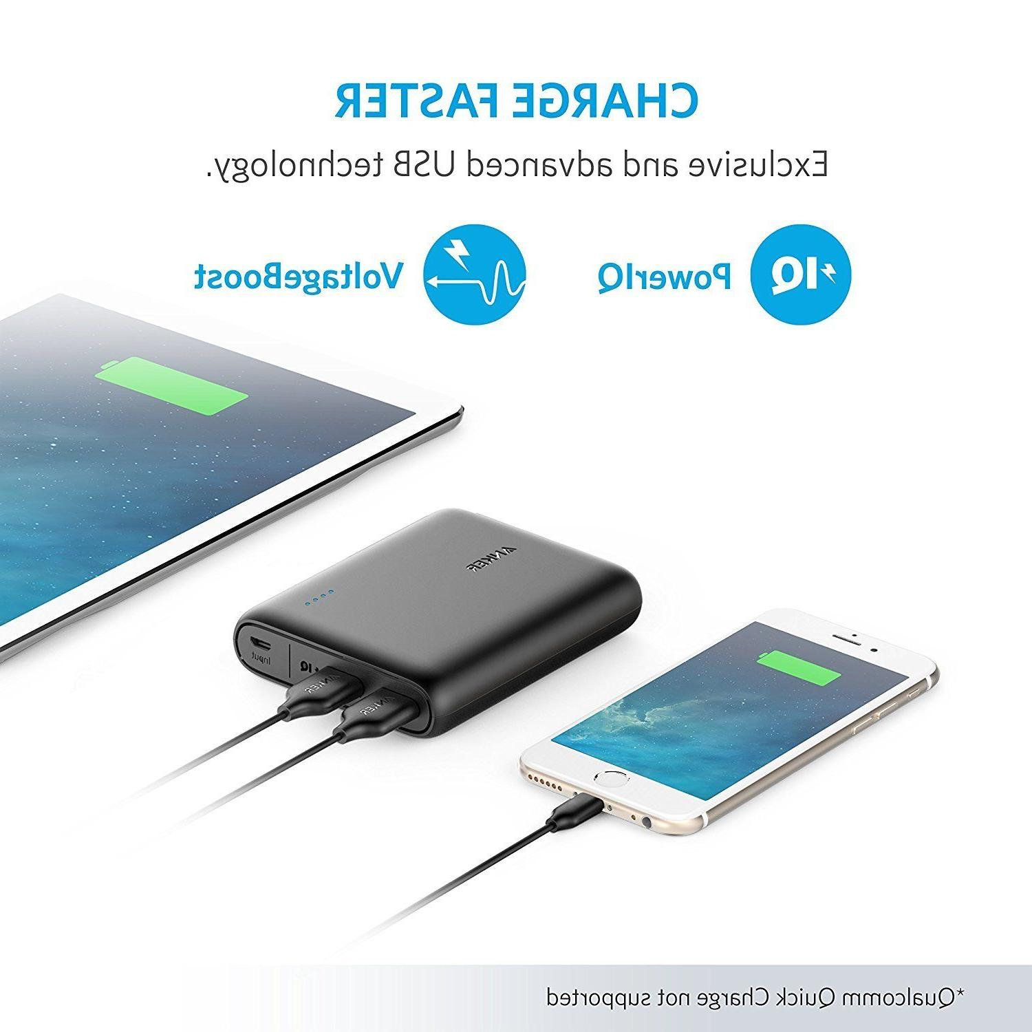 Anker PowerCore 13000, 13000mAh 2-Port Ultra-Portable Phone Charger Po..