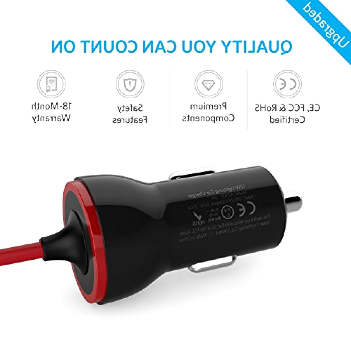 Anker USB Super fast Car Charger A2307011 for iphone Cable C
