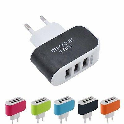 GETIHU 3 Ports Charger Mobile Phone Chargers Travel
