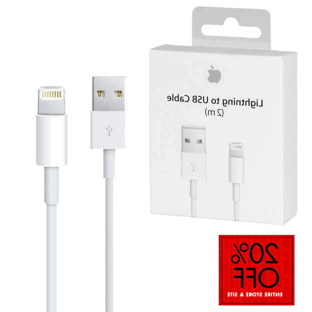 New Apple Lightning Cable USB Cable Charger iPhone X 8 7 6S Plus 5 SE 1//2M 3//6FT