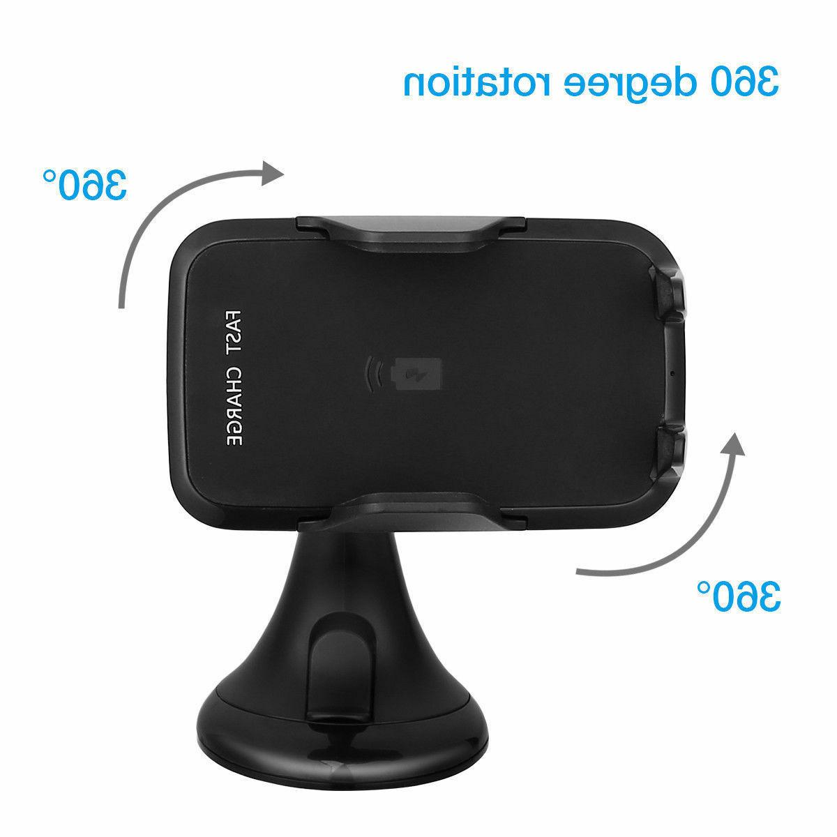 Qi Wireless Fast Phone Holder Charger For Samsung S7 S6