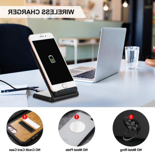 Qi Wireless Fast Charging Stand For Galaxy X