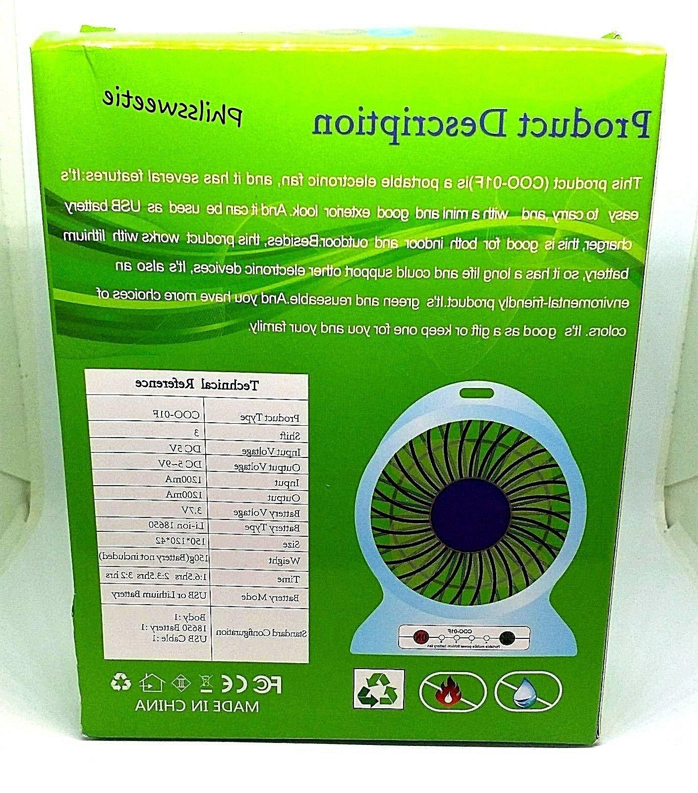 Small Lithium Battery Fan - For - -