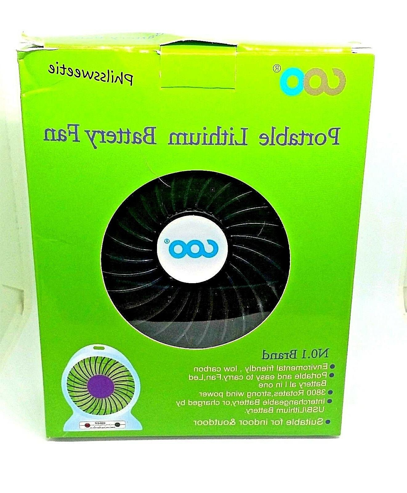 Small Portable Lithium Battery Fan - USB Charger For Phone -