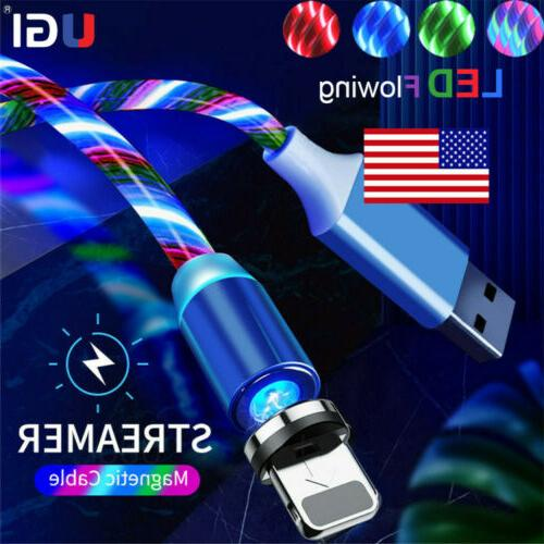 US 3/2/1 Pack Magnetic Lightning USB Charger Cable For iPhon