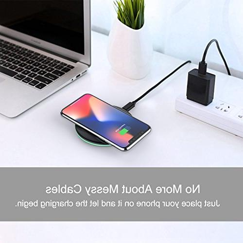 Yootech 7.5W Wireless with Plus,10W Compatible Galaxy 9/S9/S9 8/S8,5W Qi-Enabled