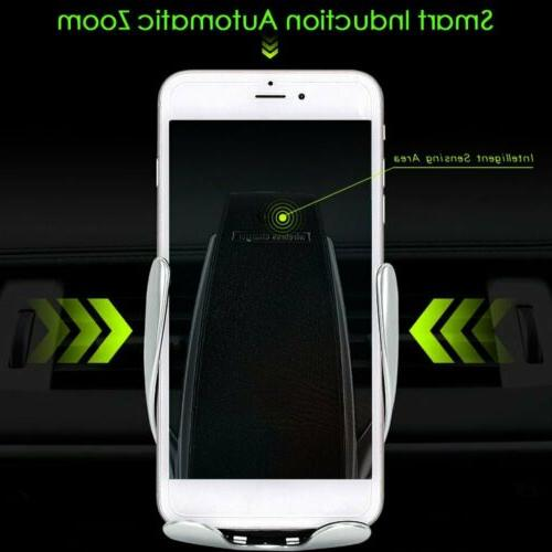 US Automatic Wireless Car Charging Charger Mount Air Phone