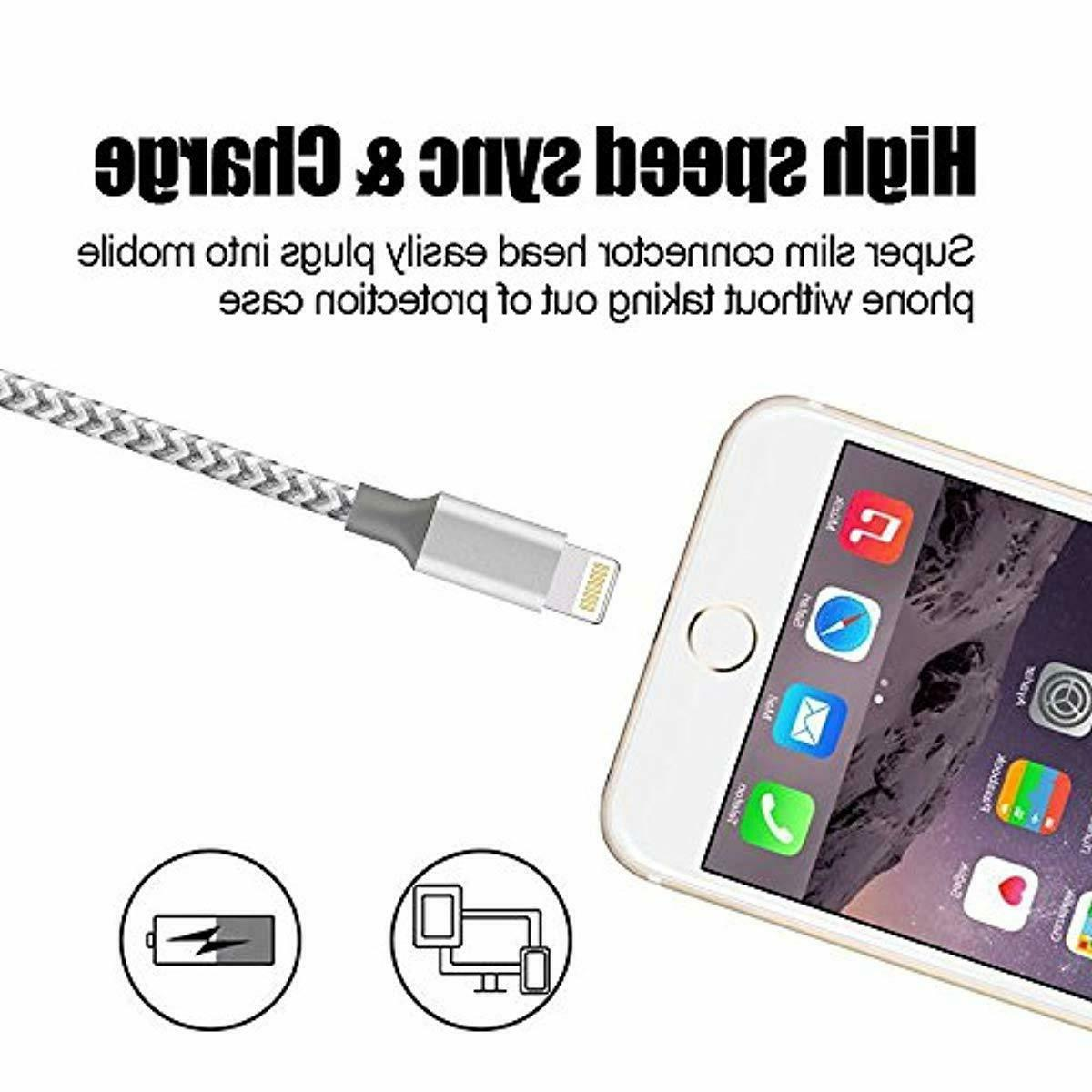 BULESK 10FT Braided Certified Phone USB