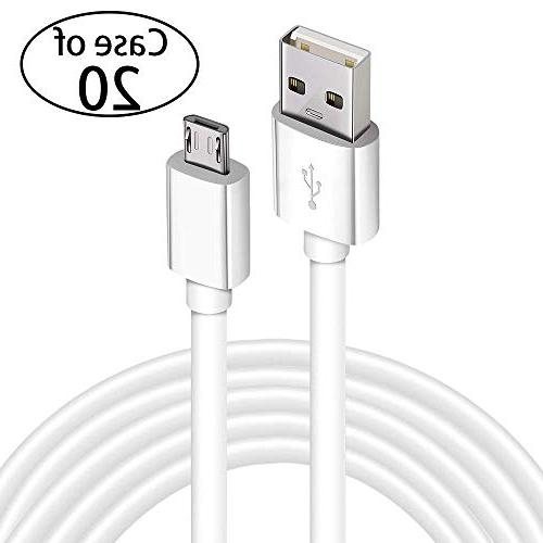 case of 20 micro usb charging cable