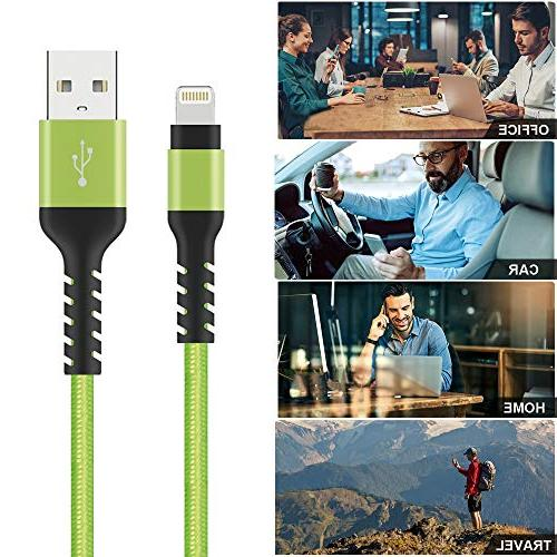 Azhizco Cable Nylon Braided and Syncing iPhone Xs Max, Xr, X, 7 Plus, 6, 6 Plus, 5, 5c, SE,