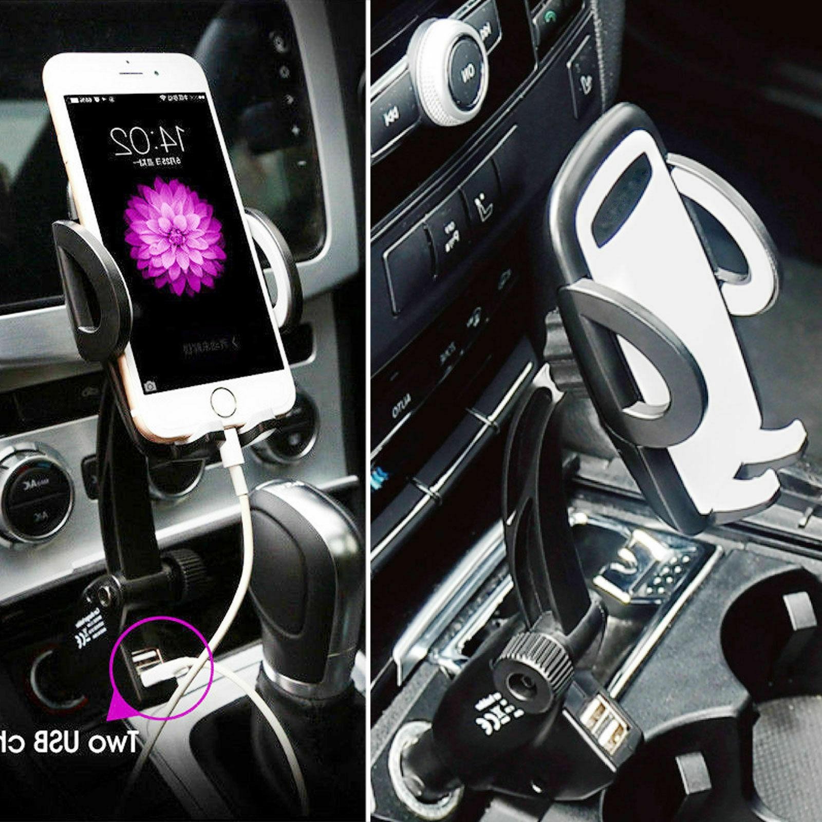 Dual Car Lighter Mount For Phone
