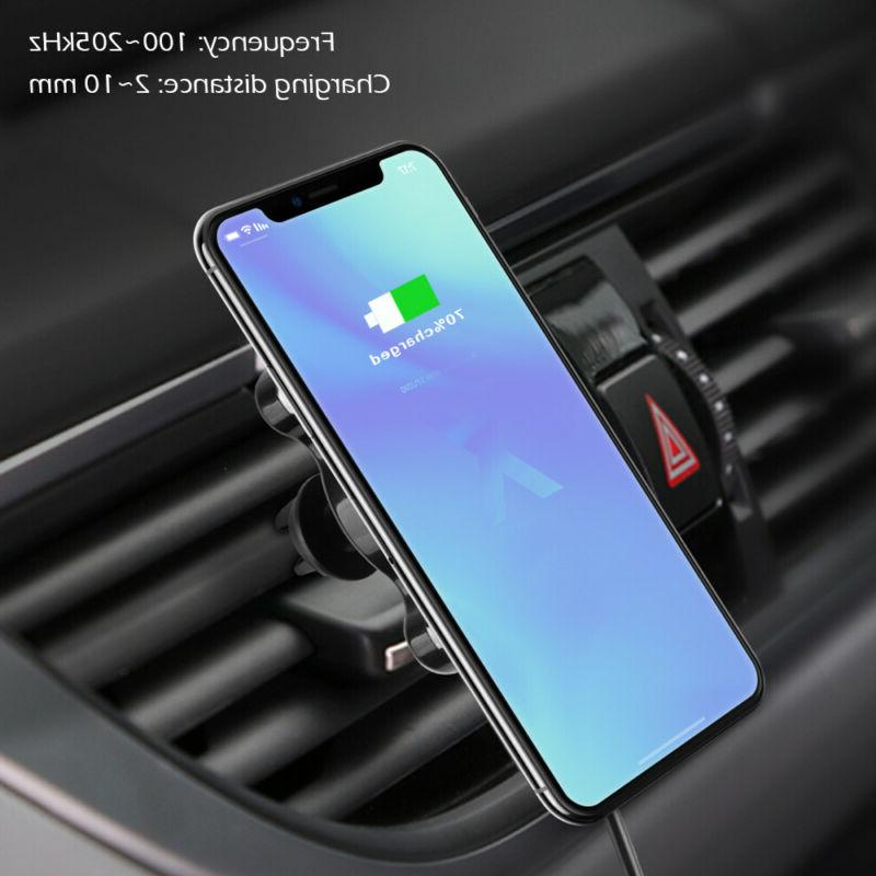 Fast Qi Wireless Car Charger Magnetic Phone For iPhone X Max Xr
