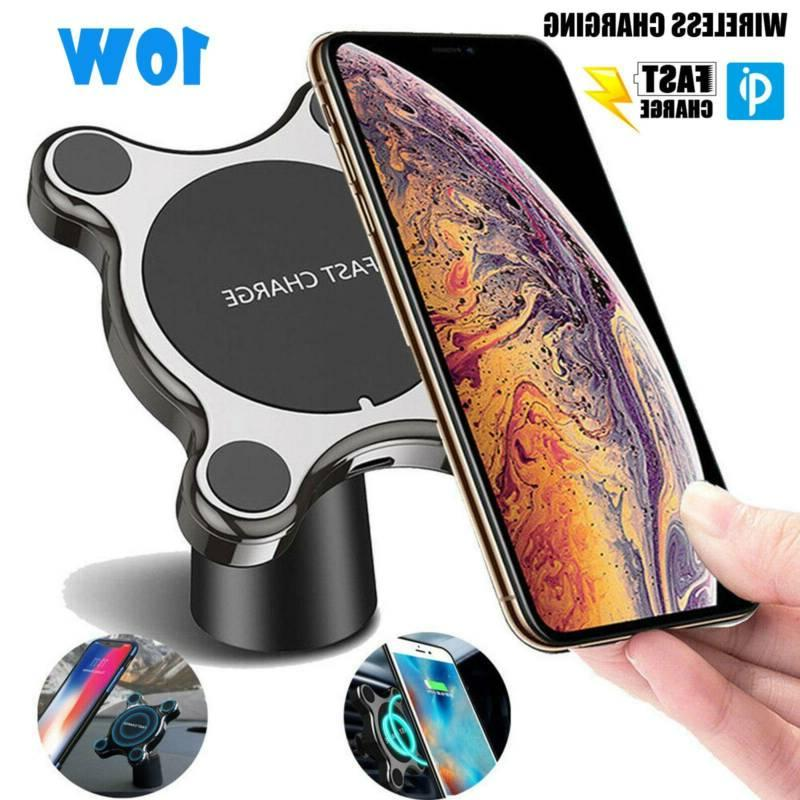 fast qi wireless car charger magnetic phone