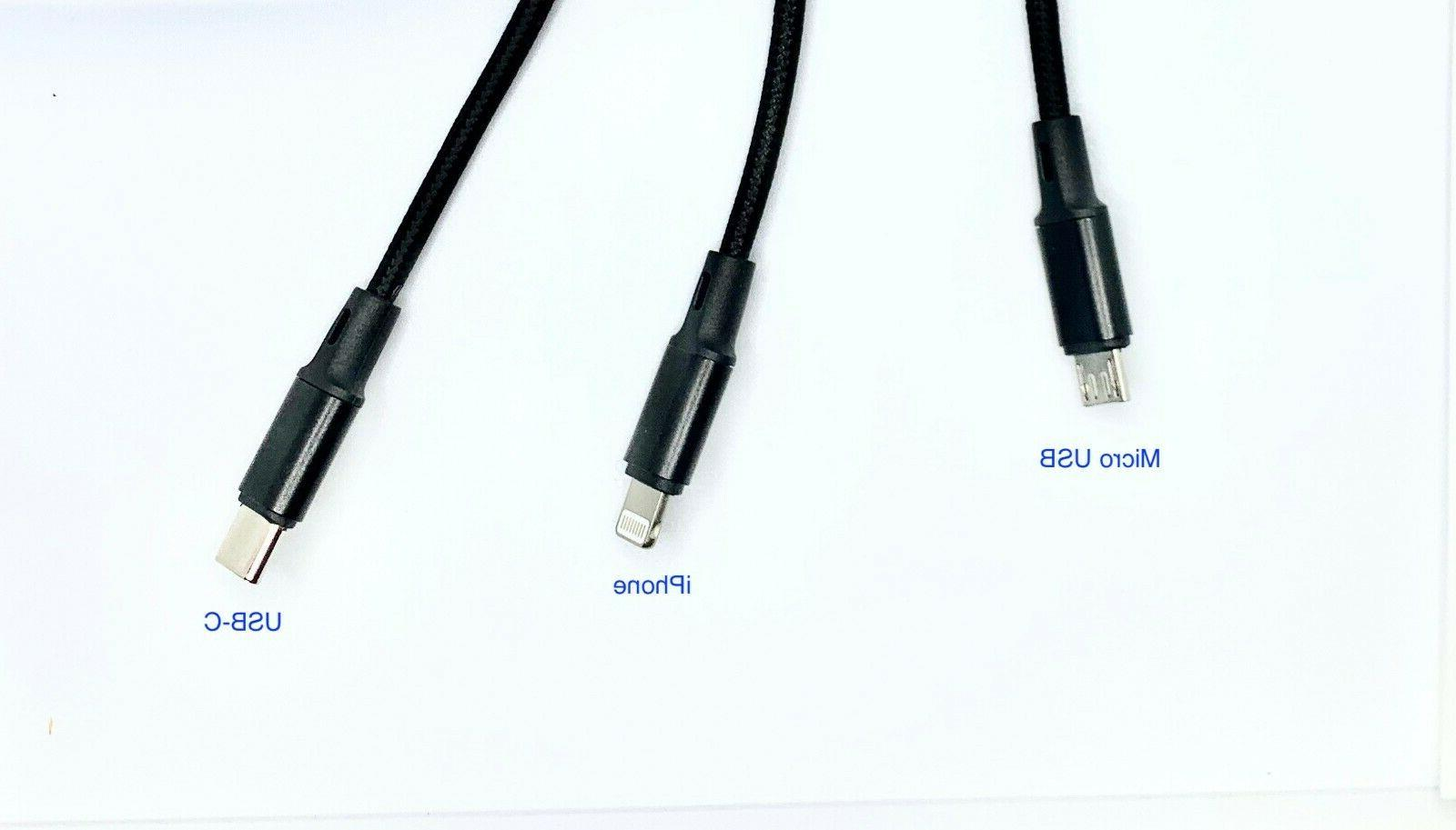 Fast USB Charging Cable 3 1 Cell Phone Cord iPhone