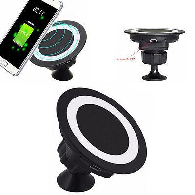 Fast Wireless Car Charger Holder Mount Pad For Samsung iPhon