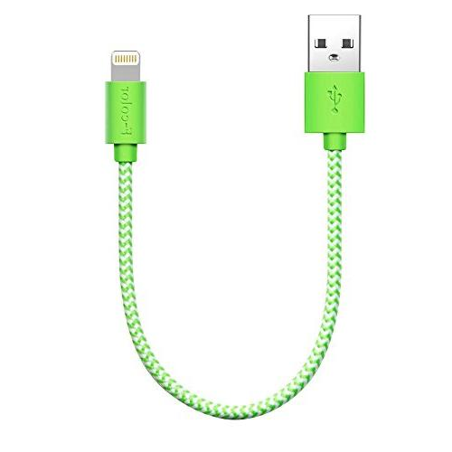 iPhone 8 Charger, 8 Inch Short F color Braided
