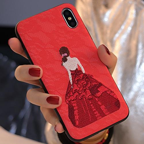 iphone case lace embroidery phone