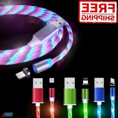 light up magnetic phone charger cable led
