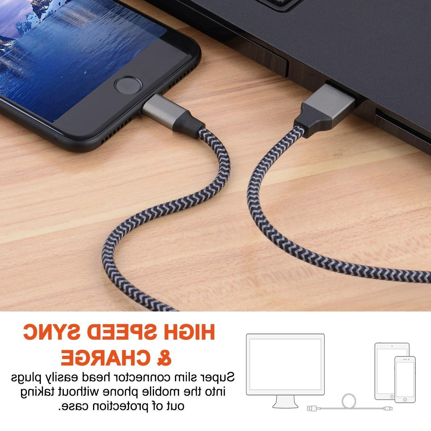 Lightning Cable Heavy Duty iPhone X 8 7 6 Charger Cord