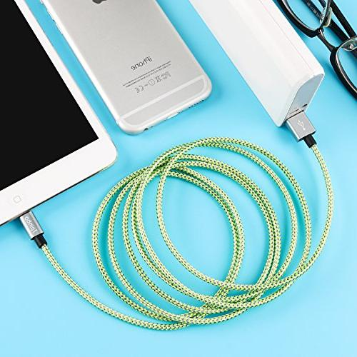 lightning cable Jpinbo chargers Long Cord Lightning Cable USB Charger Plus,SE/5S/5C,iPad Nano