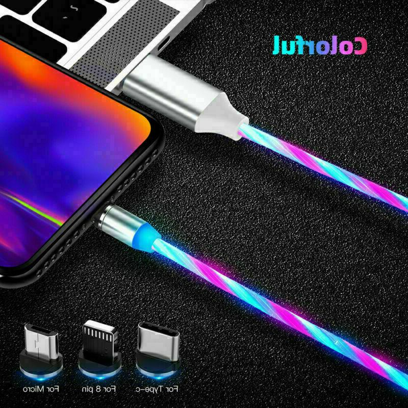 Magnetic LED Lightning Cable PHONE TYPE 3 in