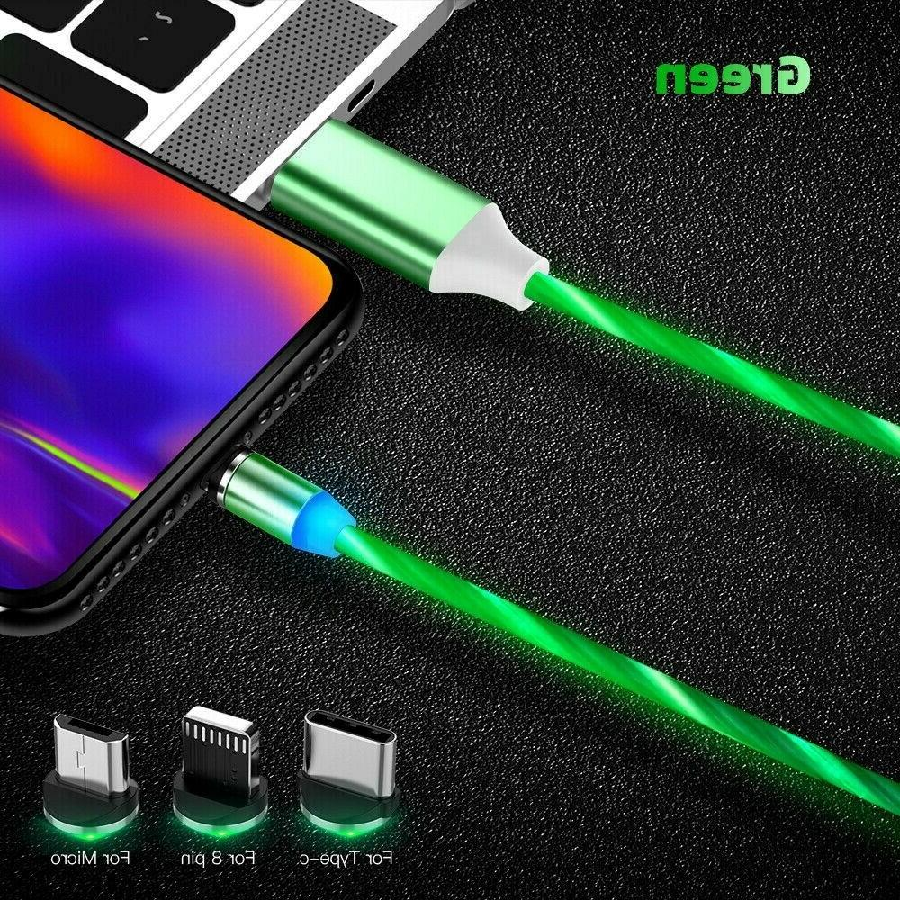 Magnetic Flowing Lightning Micro PHONE TYPE C Charger 3