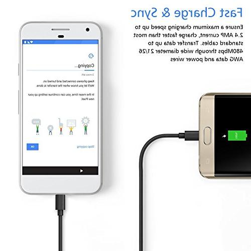 Micro USB for Galaxy Edge,High Speed Durable Cable for S6 Edge/Note Dot/Tap
