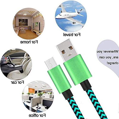 Micro USB Cable 3Pack Fast Quick Charger Cord for Galaxy Note Hd Tablet One LG K20 Plus
