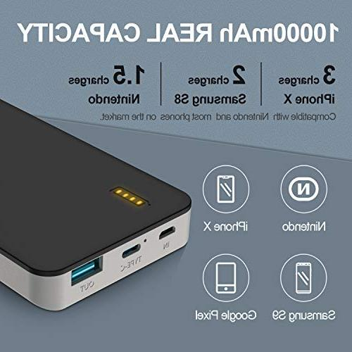 GETIHU PD QC3.0 Charge Portable USB Power Quick Charge Power Bank 18W Output Battery Compatible Iphone 8 Samsung Galaxy Nintendo