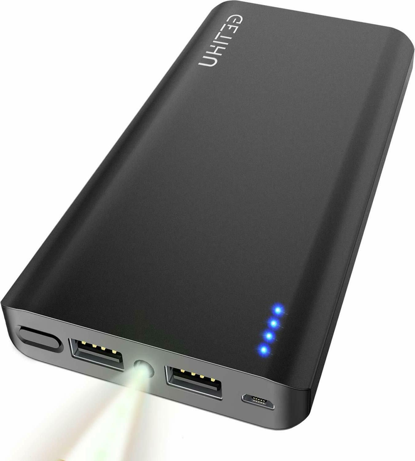 phone charger 20000mah 2 port power bank