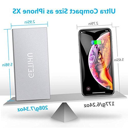 GETIHU Portable Ultra Slim Mobile External Backup 2 Powerbank for iPhone X 8 7 6 Cell