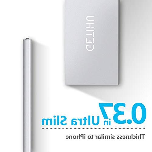 GETIHU Phone Charger Portable Slim External 2 USB for iPhone X Cell Phone