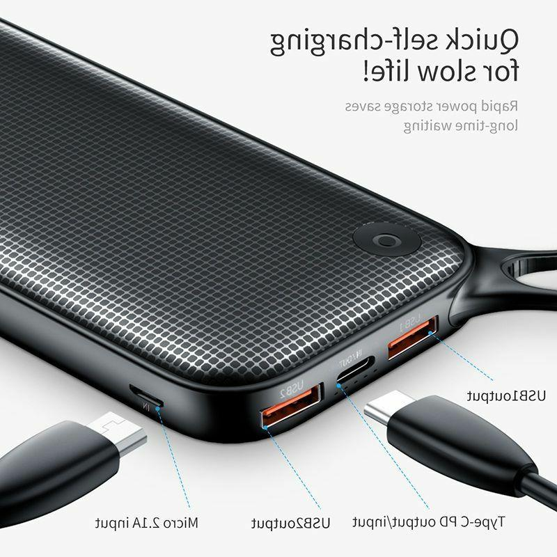 Power Bank 20000mAh Charge Fast Charge Portable