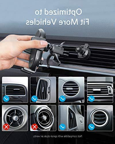Anker PowerWave Car Vent Phone Holder, Certified, 7.5W iPhone Xs Max/XR/XS/X/8/8 10W Included