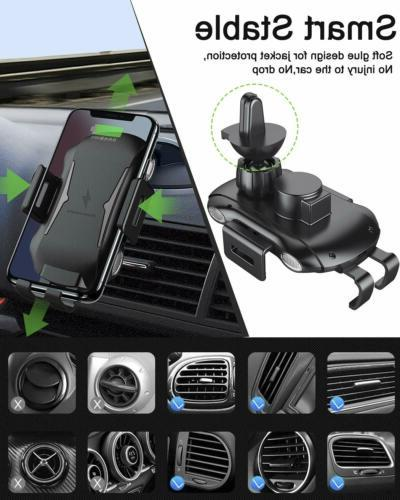 Qi Auto Wireless Charger Charging Mount Clamping Air Phone