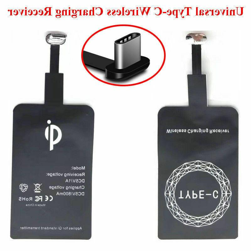 QI Wireless Adapter Fast Charger Receiver For Android Type C USB C