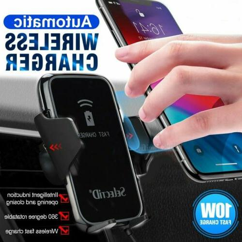Qi Wireless Car Charger Air Vent Holder Mount Charge For iPh