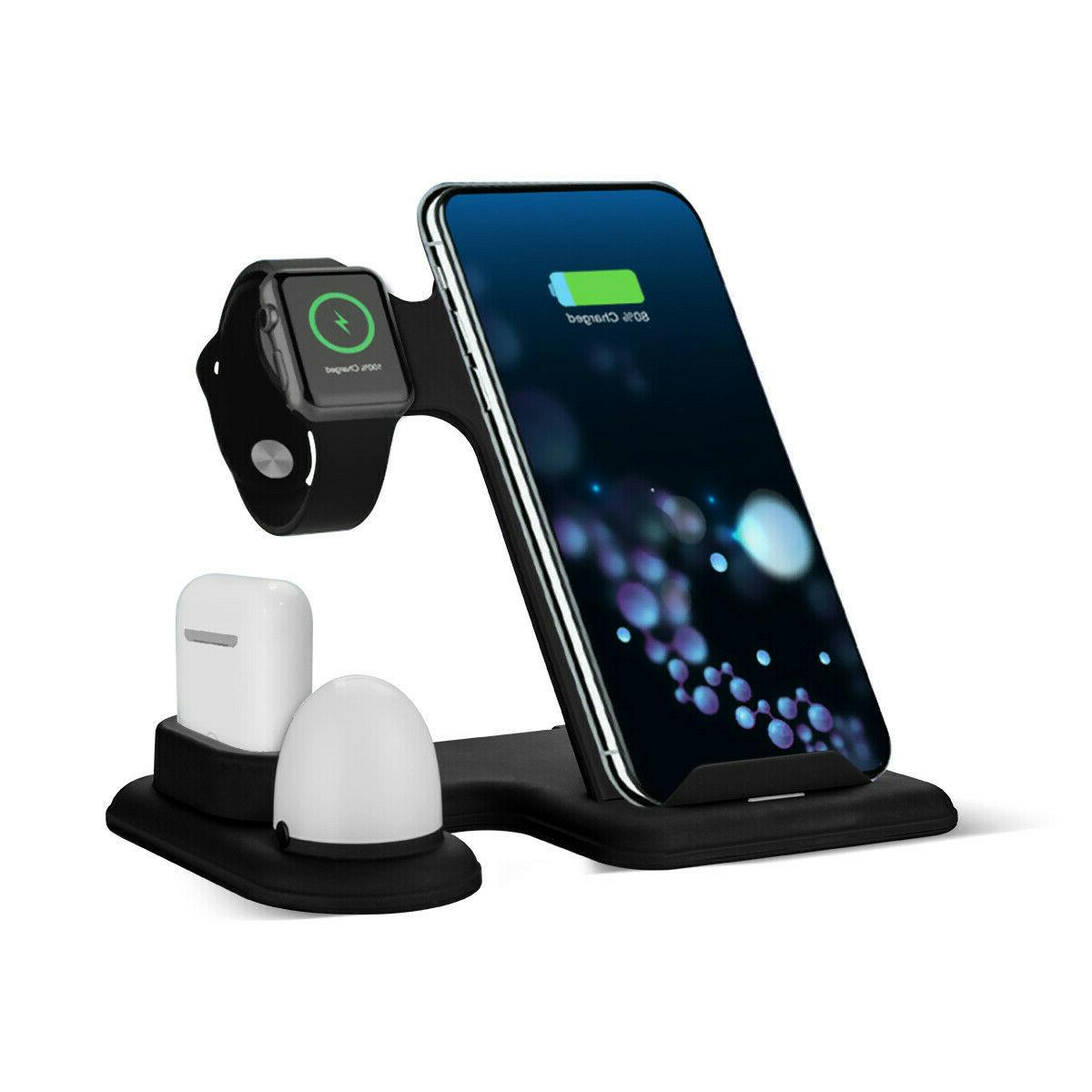 Qi Wireless Charging Station Fast Charger Dock for Apple Wat