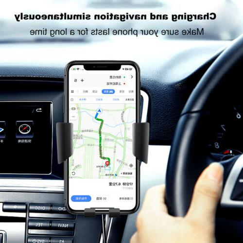 Qi Wireless Charging Car Charger Mount Stand 2 For Phone