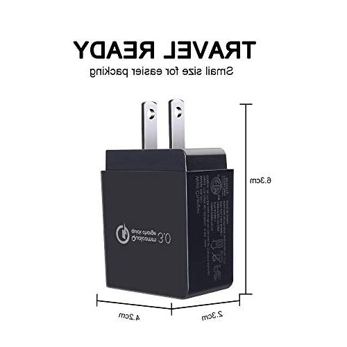 Sicodo USB Wall Charger Certified Charger Compatible iPhoneX,8,7 Plus,6s Plus,Tablet,Samsung Galaxy Edge,HTC,LG,Sony,Nokia,Motorola and