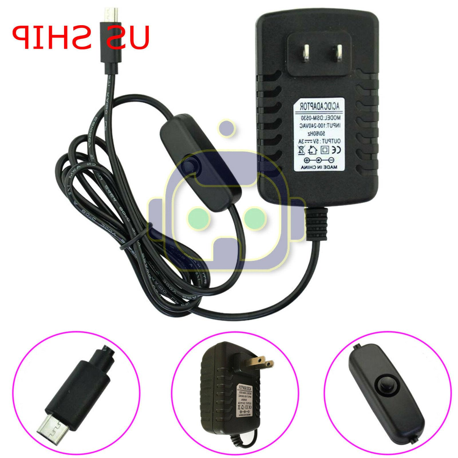 Raspberry 3 3B Power 5V 3A 3000mA Charger Adapter