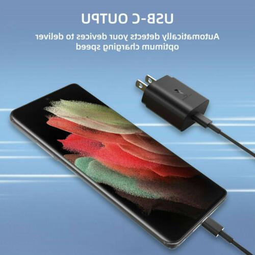 For Samsung S21 Ultra 25W Fast Wall Charger S20