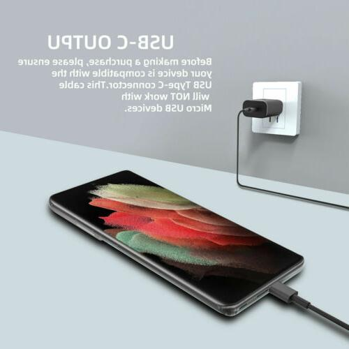 For Galaxy S21 Ultra Wall Charger Type-C S20 Note10