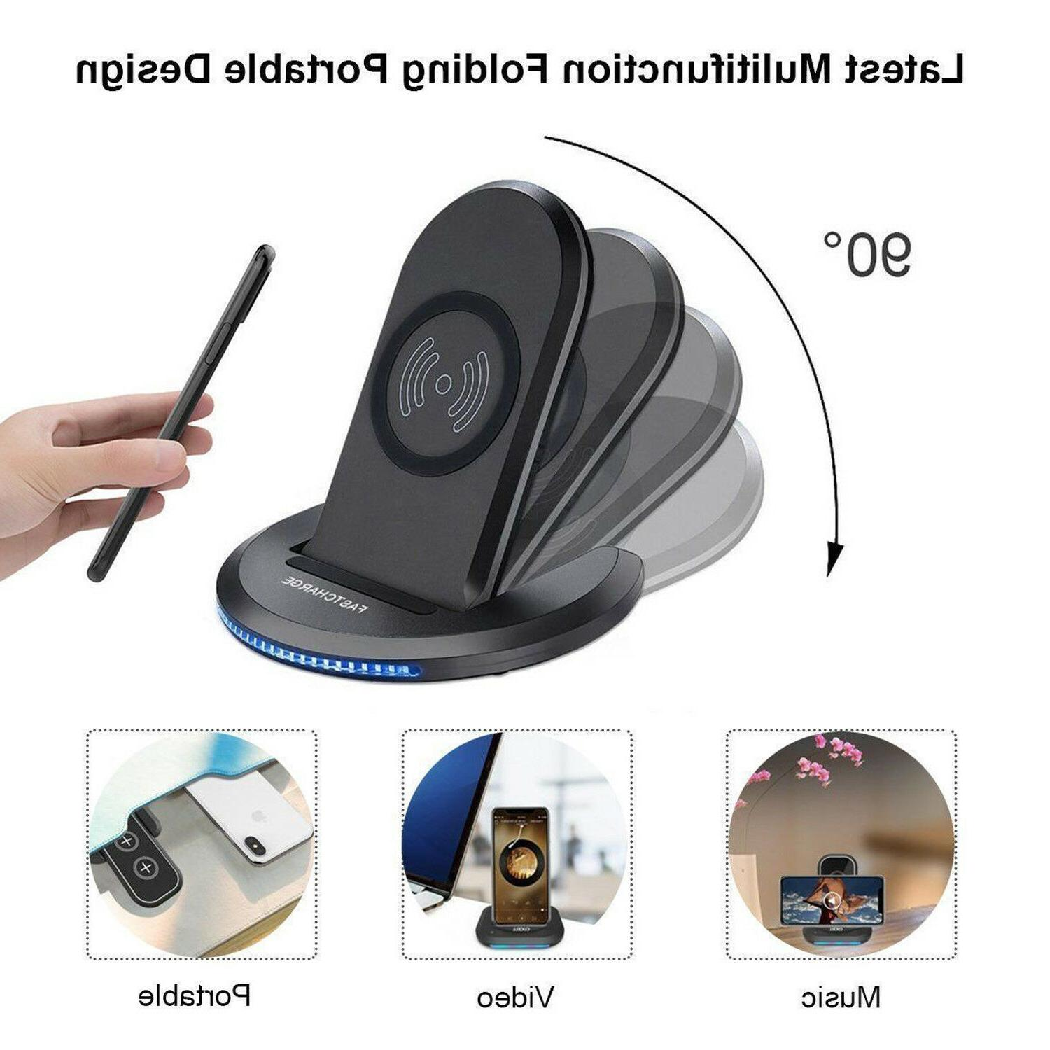 For Samsung Galaxy S9/ Qi Charger Charging Stand Pad