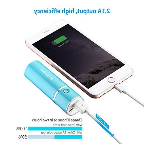 Poweradd Most Battery 2.1A Ouput Charger Smart Charge for iPhones, Samsung Galaxy, - Blue