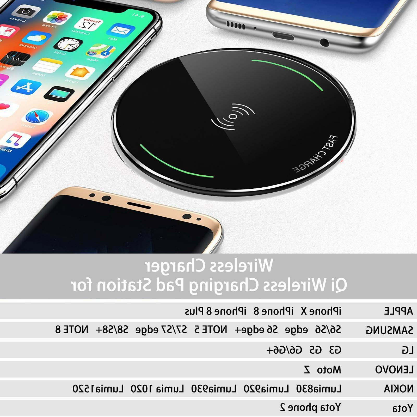 ultra slim qi wireless phone charger
