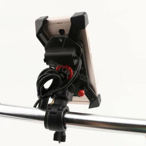 Universal Motorcycle Cell Handlebar Charger 3.5-6 Inch US