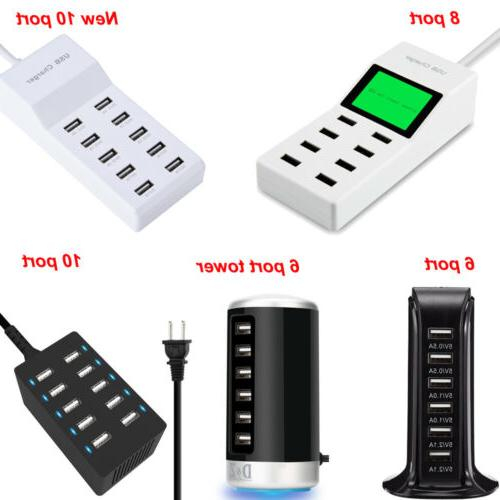 Universal Multi Port USB Travel Wall Charger Power Adapter f