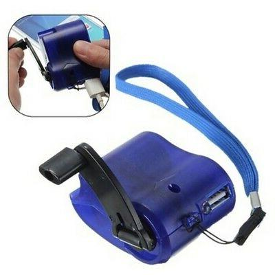 USA Practical Outdoor Hand Crank Dynamo Emergency Cell Phone